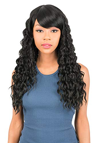 New Born Free Synthetic Full Wig - CUTIE WIG COLLECTION LONG WAVY CT164 (1B)