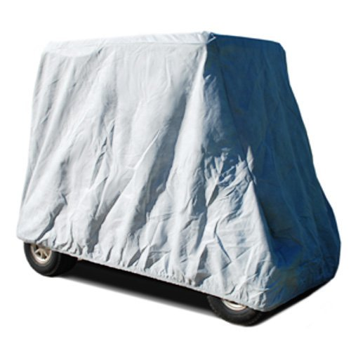 CarsCover HD Waterproof Golf Cart Cover 4 Passenger 5 Layer Storage Covers for Yamaha, Club Car, EZ Go (Fit up to 115 inch Long)