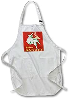 Yrmsun Funny Apron for Men Vintage Pates Baroni Pasta Advertising Poster Work Adjustable Pattern Aprons with Pockets for Home Shop Kitchen BBQ Cooking