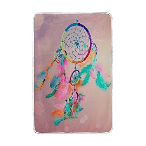 Lit Couverture, Luxe Dream Catcher doux Polyester avec grande taille Polaire pour Jeté Canapé Voyage Chambre à coucher Salon Adulte Fille Garçon Homme Femme 152,4 x 228,6 cm