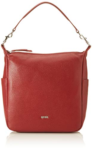 BREE Damen Nola 10, Dark Red, Backpack S Rucksack Rot (Dark Red)