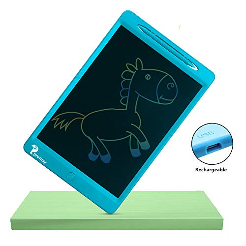 proffisy Colourful Screen LCD Writing Tablet 11.5 Inch Rechargeable Type Electronic Writing Board Doodle and Scribble Board Magnetic MeMO Notes Comes for Kids and Adults (Blue)