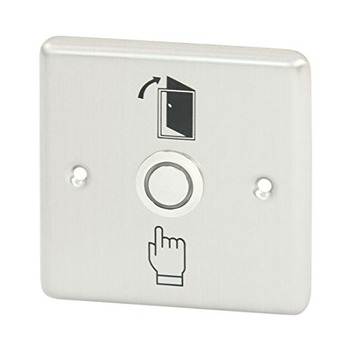 Aexit Edelstahl - Drucktastenschalter für elektrisches Türschloss ABK-804 (27d14fa44279f4610a3106e64d2bebe4)