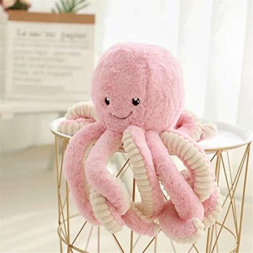 GLITZFAS Kuscheltier Krake Stofftier, süße weiche Plüschtier plüsch Spielzeug Dekoration (Pink,18 cm)