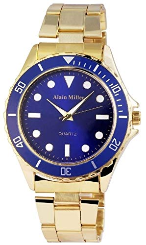 Alain Miller Herrenuhr – Edelstahl Armbanduhr Leuchtzeiger Analog Quarz 2800012