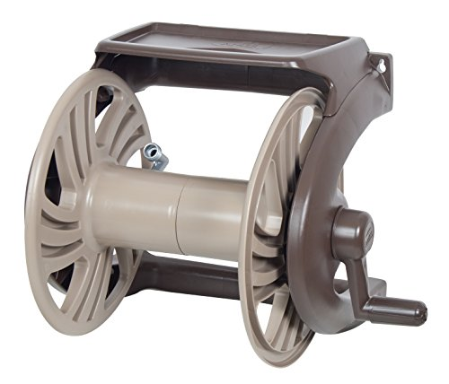 AMES 2415600 NeverLeak Poly Wall Mount Reel with Tray, 225-Foot Hose...