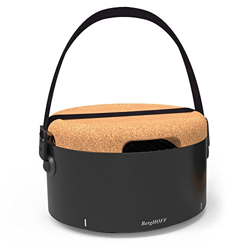 BergHOFF Studio Portable Tabletop Barbecue with Heat Resitant Base, 2 liters, Black, 35x35x22 cm