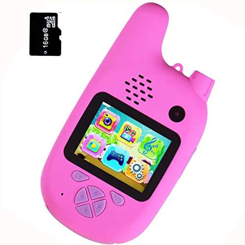BECROWM EU Kids Walkie Talkie Digital Camera Toys with Game, Childrens...