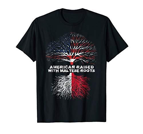 American Raised with Maltese Roots Malta T-Shirt