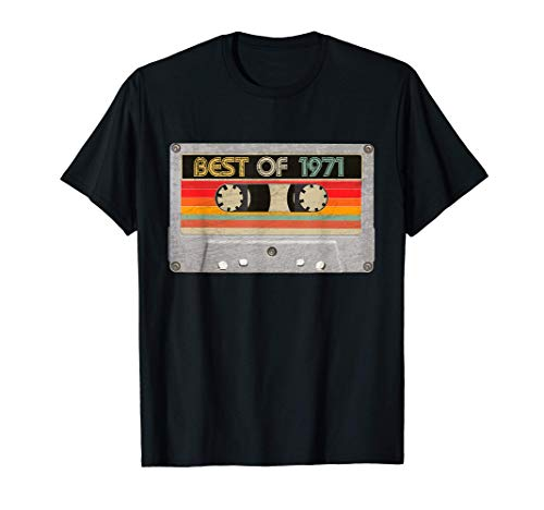 Best Of 1971 50th Birthday Gifts Cassette Tape Vintage T-Shirt