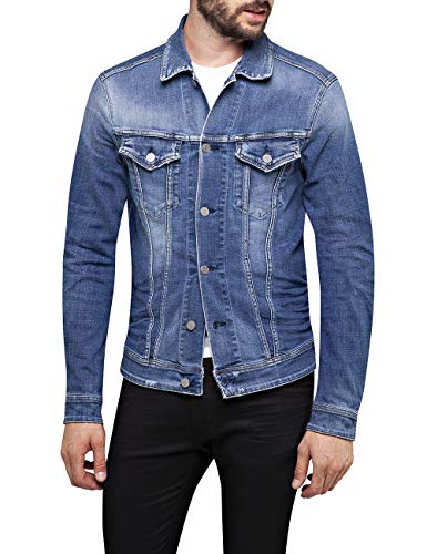 Replay Herren MV842C.000.141 630 Jeansjacke, Blau (Medium Blue 9), Small (Herstellergröße: S)