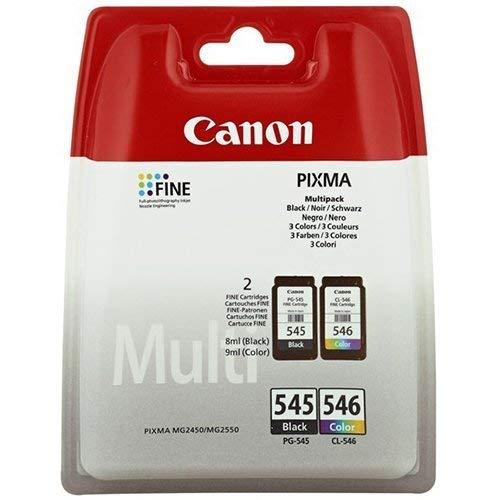 Canon Tinta PG-545 / CL546 Pack CUATRICOLOR C/M/Y/BK