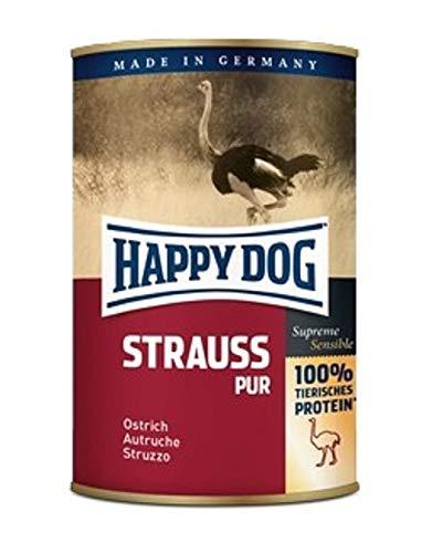 Happy Dog Autruche Pure en Conserve, 400 g