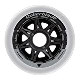 Rollerblade 84mm 84A Wheels, 8 Pack, Clear, US Unisex ST