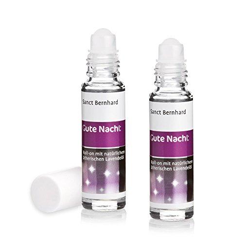 Sanct Bernhard Gute Nacht! Roll-on mit natürlichem, ätherischem Lavendel-Öl 2er-Packung