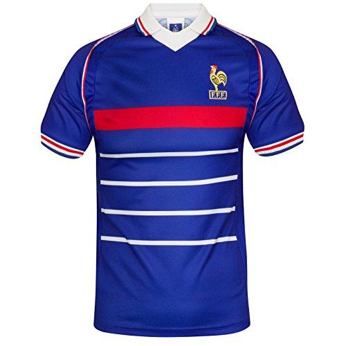 Scoredraw - Camiseta de fútbol, diseño de la selección Francesa para el Mundial de 1998, Color Azul - Azul Real, tamaño Small