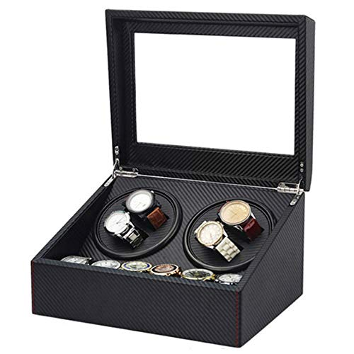Watch winder Scatola orologio Organizer in pelle per 4 + 6 Storage Display Box (Color : D)