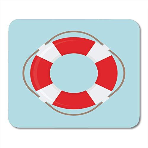 Gaming Mouse Pad Rettungsschwimmer Rettungsring Rettungsring Beach Preserver Gürtel Rechteck Mausmatte Rutschfeste Gummibasis MousePads für Computer, Laptop