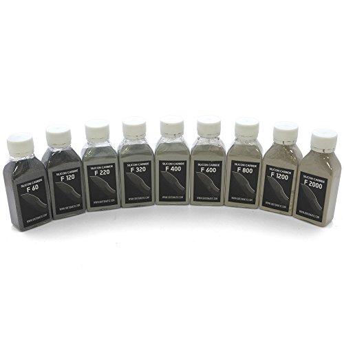 Loses Siliziumkarbidpulver-Set für Schleifsteine (9 Körnungen)