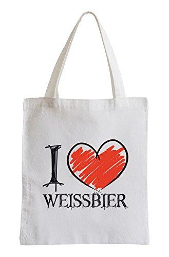 I Love Weissbier Fun Jutebeutel