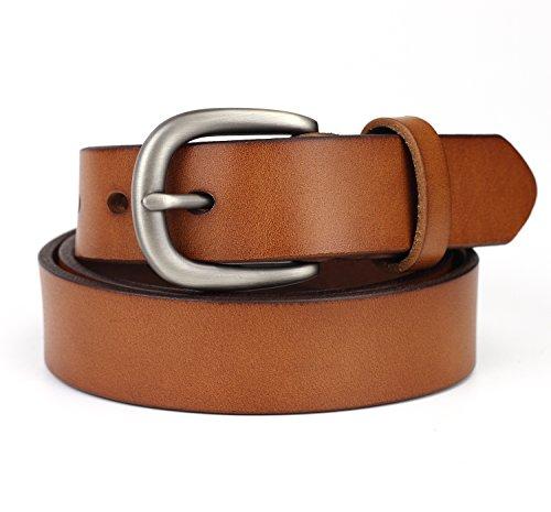 KaLeido Womens Head Layer Cowhide Leather Belt