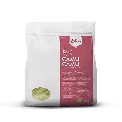 Camu Camu Bio en Poudre 500 g   SOUTH GARDEN   Riche en vitamine C   Antioxydant   Anti-âge   Végétalien   Sans gluten   Sans lactose   Sans sucre ajouté