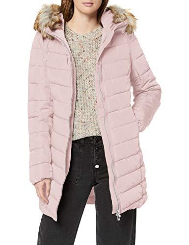 Only Onlellan Quilted Hood Fur Coat Otw Chamarra de Plumas Alternativa, Color Gris, M para Mujer