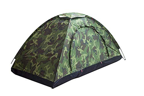 Sutekus Single Tent Camouflage Patterns Camping Tent One Person Tent for Camping Hiking 【Outdoor Equipment】
