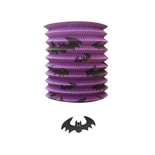 Halloween Hoilday Gelukkig Grappig Papier Pompoen Bat Skeleton Hangende Lantaarn Lamp Party Decor Papier Lantaarns A65