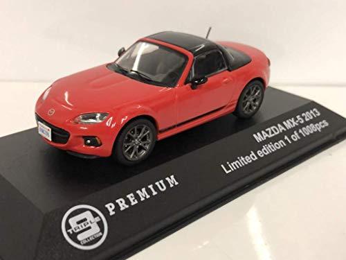 Mazda MX-5 Cabrio geschlossen 2013 rot, Modellauto 1:43 / Triple9