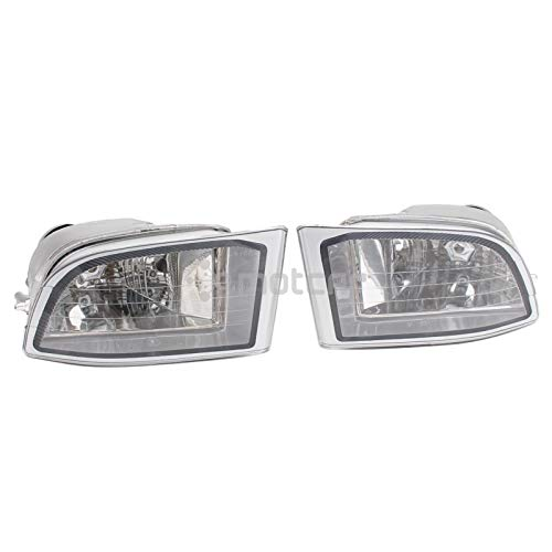 Luces antiniebla Compatible con Toyota Land Cruiser Prado 120 Series 2700 4000 LC120 2002 2003 2004 2005 2006 2007 2008 2009 Front Fog Light Fog Lamp El plastico (Color : 1pair Left and Right)