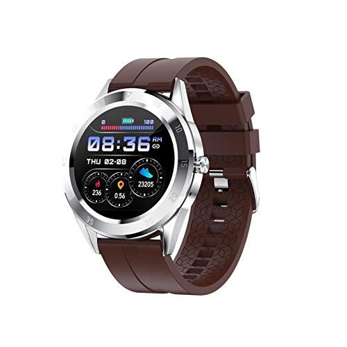 FFF8 Smart Band Bluetooth Llamada Women Watches SmartWatch Dail Presión Arterial Fitness Ritmo Cardíaco (Color : Brown)