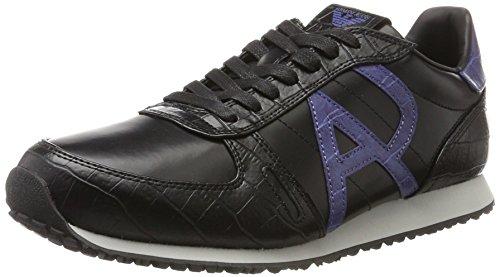 Armani Jeans Sneaker Low Cut, Zapatillas Hombre, Color Negro, 42 EU