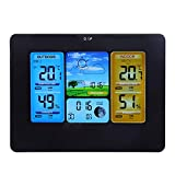 Wireless Weather Station for Indoor Outdoor, Bewinner LCD Digital Wireless Weather Station Clock