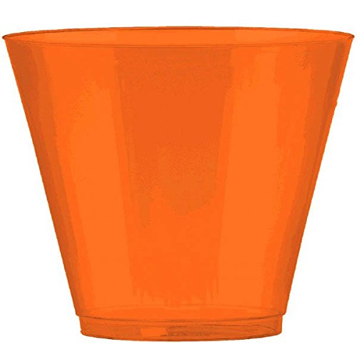 Orange, Big Party Pack, Plastic Cups 9 oz., 72 Per Pack