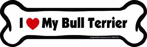 Imagine Cet Aimant, OS, plastique, 5,1 x 17,8 cm, Bull Terrier