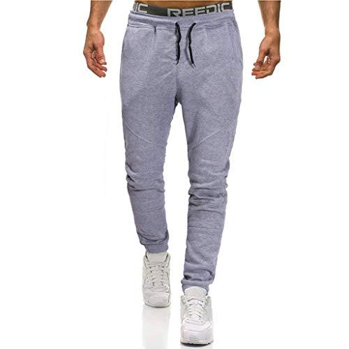Pantalon Homme,Roiper de Survêtement Hommes Automne Hiver, Mode Patchwork Élastique Coton Jogging Sweat Pantalons, Chic Sport Travail Pants Cordon de Serrage