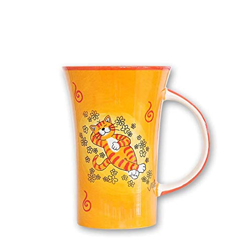 440s Mila Keramik-Becher, Coffee Pot, Oommh Katze Verschnaufpause | MI-82195 | 4045303821958