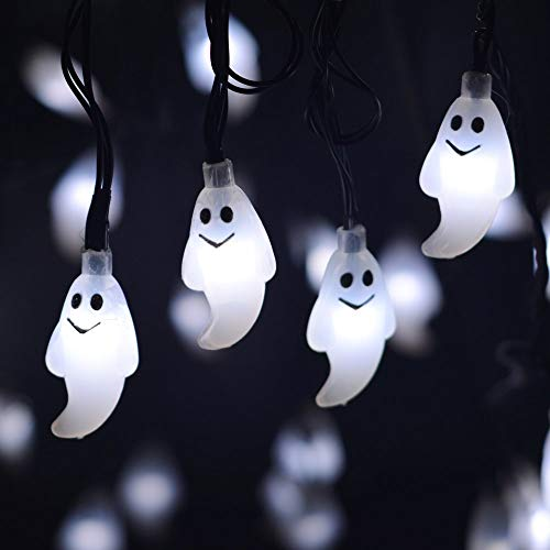 Yinqing Halloween LED Fairy String Lights, 20 LED Ghost Lights Halloween Christmas Decoration Lights (Ghost Light)