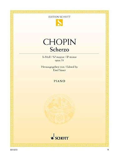 Scherzo b-Moll: op. 31. Klavier. (Edition Schott Einzelausgabe)