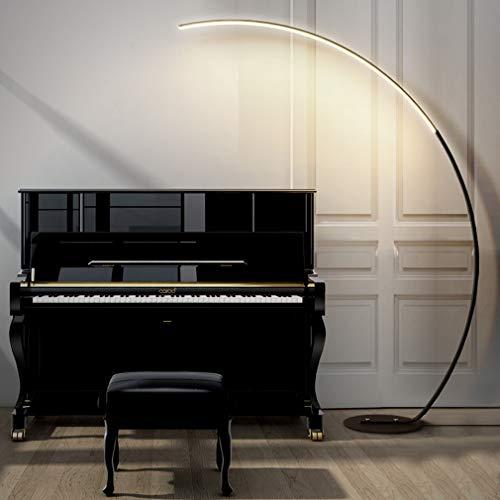TATANE LED Vloerlamp, Classic Arc Vloerlamp met Hanglamp Schaduw En Afstandsbediening, voor Woonkamer Slaapkamer Den Office Lounge