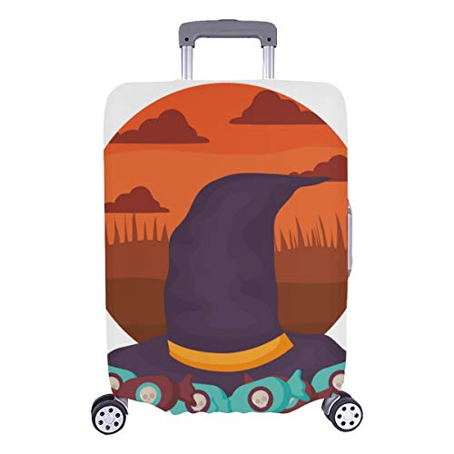 Fashion Luggage Cover Witch Hat Design Halloween Durable Washable Protecor Cover Fits 28.5 X 20.5 Inch Suitcases Cover Protector Suitcase Case Protector Sports Luggage Cover