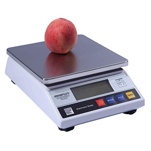 0.1g Contador de balanzas de cocina de alta precisión con balanzas Función de tara con retroiluminación LCD de precisión Acero inoxidable para pesar hasta la resolución Farmacia de laboratorio (6 kg