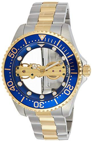 Invicta 26243 Pro Diver herenhorloge roestvrij staal mechanisch blauwe wijzerplaat