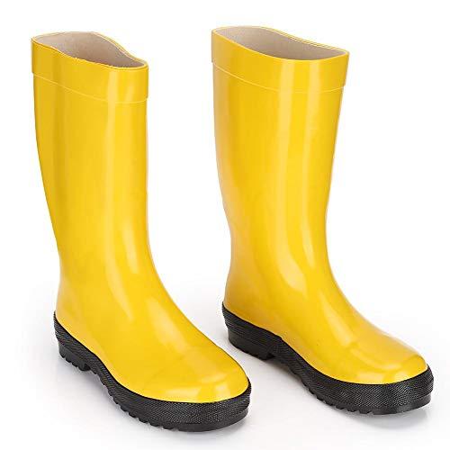 Stivali di gomma, Stivali antincendio per ambulanze professionali, Scarpe antinfortunistiche in gomma resistente agli acidi e agli agenti chimici sono utilizzate(45)