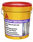 SikaWall-303 Fibers Plus, Masilla acrílica lista para usar fibra de vidrio, Blanco, 7 kg