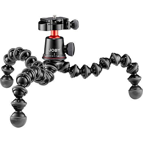 Joby GorillaPod 3K PRO Kit, Leichtes, Flexibles Stativ für Foto, Videoaufnahmen, Spiegellose Systemkameras mit Kugelkopf für Vlogging, Content Creation, für Canon, Nikon, Sony, Aluminium