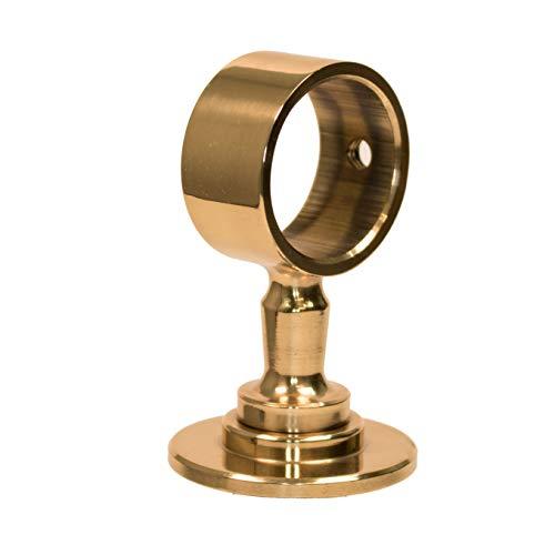 komplett glanz Messing L/änge: 220 cm Belastung bis 80kg Handlauf Durchmesser 20 mm