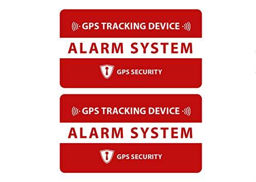 GPS Tracking Aufkleber 2 Stück für das Fahrrad, Bike Sticker - Wetterfest, UV-Beständig