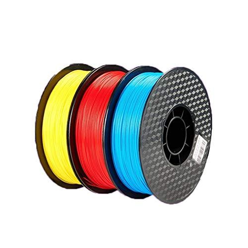 PLA Filament1,75 Mm/Filament Rougeoyant/Filament for Imprimante 3D / Précision +/- 0,02 Mm, Trois Couleurs Fluorescentes, 1 Kg Par Bobine / (un Axe, Deux Axes, Trois Axes, Huit Axes)